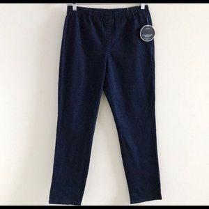 Karen Scott Womens Petite Elastic Waist Jeans PL